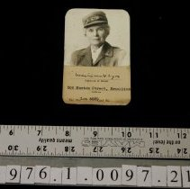 Image of Card, Identification - 1941 ca