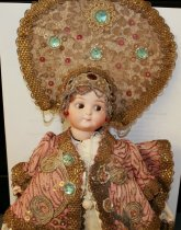 Image of Russian Imperial Court doll closeup