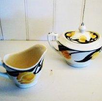 Image of Bedfor Ware Sugar Bowl and Creamer