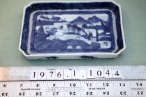 Image of Canton blue and white tray