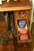 Image of Sewing Machine Console, drawer