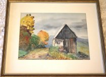 Image of Watercolor, Vermont Barn