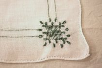 Image of Placemat, green embroidery