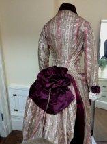 Image of 2-piece Paisley Stripe Day Dress, back