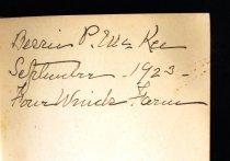 Image of Bessie's signature