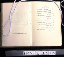 Image of Contents, list of essays