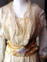 Image of Summer Dress with Gold Ribbon, top