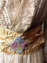 Image of Summer Dress with Gold Ribbon, beading