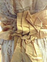 Image of Summer Dress with Gold Ribbon, rear view