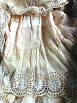 Image of Summer Dress with Gold Ribbon, skirt detail