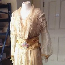 Image of Summer Dress with Gold Ribbon