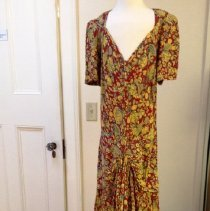 Image of Printed Knit Evening Dress
