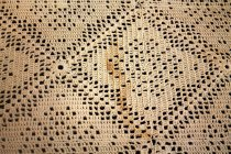 Image of Crocheted Tablecloth