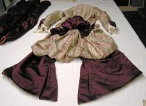 Image of 2-piece Paisley Stripe Day Dress, jacket lining