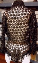 Image of Black Woven Beaded Jacket