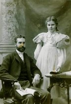 Image of Augustus Van Wickle and his daughter Marjorie, 1895