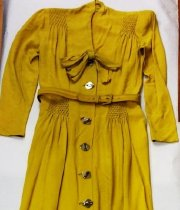 Image of Chartruese Belted Dress, top