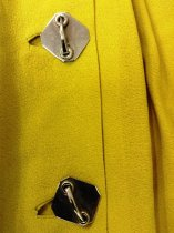 Image of Chartruese Belted Dress, buttons
