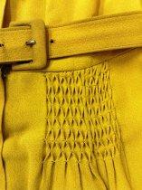 Image of Chartruese Belted Dress, detail