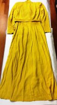 Image of Chartruese Belted Dress, back