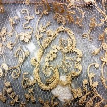 Image of Chiffon and Lace Dress, lace detail