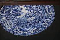 Image of English transfer printed dessert plate