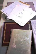 Image of Album - Constance Pardee Ephemera including a Baby Book, Photo Album, News clippings.