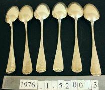 Image of Dessert Spoon, Pond Lily pattern  1-6 verso