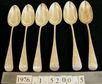 Image of Dessert Spoon, Pond Lily pattern  1-6