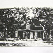 Image of 316p - Tudor Hall, Black & White Photocopy of Colorized Postcard