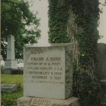 Image of 3946 - Bond, Frank A. Tombstone