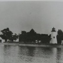 Image of 2654 - A.P.G. Pooles Island Lighthouse, Boat House, Bell Tower and Other buildings, East Side.