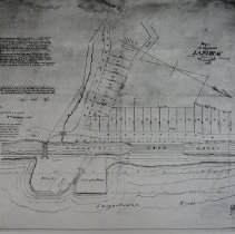 """Image of 1038 - Lapidum Plat, """"Plan of town lots situated in Lapidum belonging to Mrs. Ann Archer, 1858"""""""