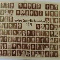 Image of 3814 - 1977 Harford County Bar Association individual identified members