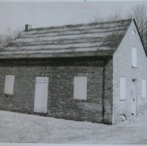 Image of 7057 - APG: Gunpowder Meeting House  - old brick building on the grounds of APG at Edgewood, Magnolia Road; may have been built in 1773 and used as a Methodist church