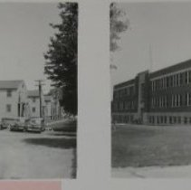 Image of 7042 - APG: Building #310, Annex Administration (left side); Building #328, Ballistics Research Lab (right side), 1940s