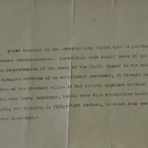 Image of 586 - World War I Letter from the Grand Quartier General (8 March 1919)