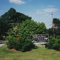 Image of 3670 - Sign and Marker for McKendree Church & Cemetery