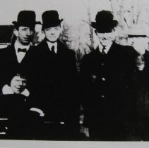 Image of 3689 - A. Reed Bradford, W. Hopkins and G. Bradford in derby hats