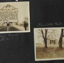 """Image of 504 - Historic Markers: Cecil County: Route 40, """"Charlestown"""" and an old hotel; St. Mary's County: Route 5, """"Charlotte Hall School""""."""