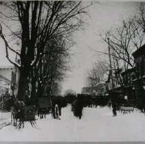 Image of 1408 - Photograph and newspaper clipping about Bel Air's Sleighing Carnival in 1902.