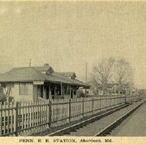 Image of 1405p - Penn R.R. Station, Aberdeen, Md.