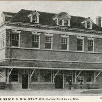 Image of 1479p - The New P.B. & W. Station, Havre de Grace, Md