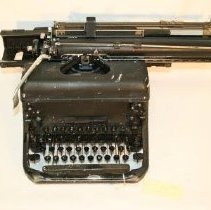 Image of Front and top of Remington typewriter