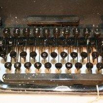 Image of Keys detail of Remington typewriter