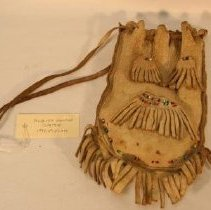 Image of Front of leather pouch