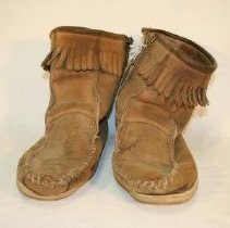 Image of Front of leather boots