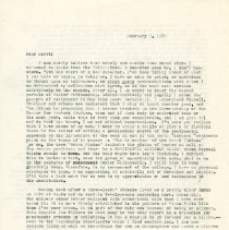 Image of Letter - Herbert Krause to Scott Lovald, letter, February 2, 1970