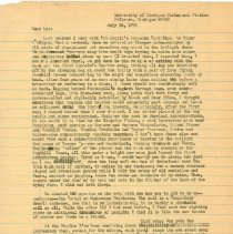 Image of Letter - Herbert Krause to Les Baylor, letter, July 16, 1970