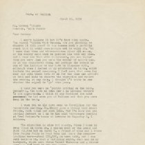 Image of Letter - Herbert Krause to Herman Chilson, letter, April 18, 1972